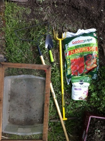 Materials needed to build the garden.