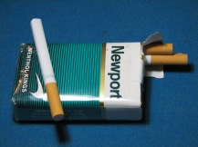Common artifact found in  the industrial era (~1960 to 2013 AD).  By the 1960's filtered cigarettes became popular, largely because they were seen as a healthier alternative to non-filtered cigarettes (which have a less of an impact on the environment).  CIgarette smoking is still common in the region as of this writing.  Consequently, cigarette filters or butts are common in Pittsburgh, along with their stylish packs.